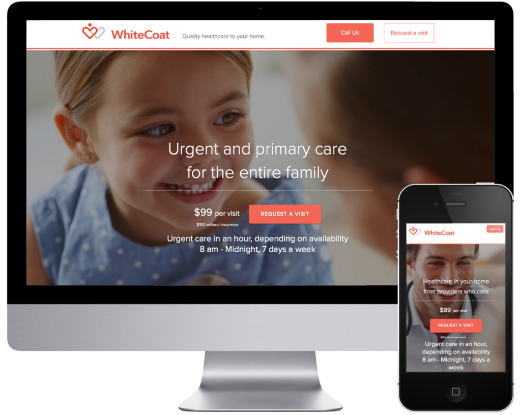 SpringSEO Client Site | WhiteCoat Healthcare Website Preview
