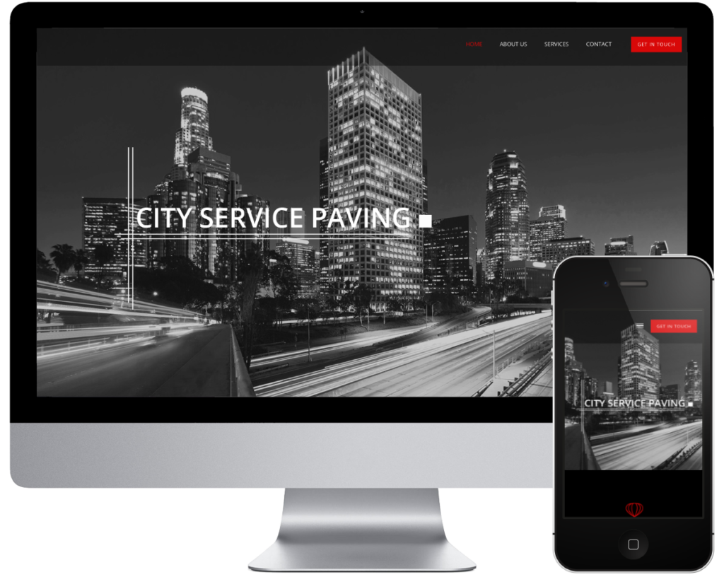 SpringSEO Client Site | City Service Paving Website Preview