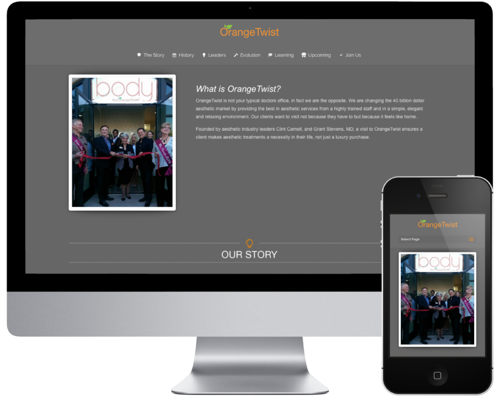 SpringSEO Client - OrangeTwist Brands Corporate Website Preview