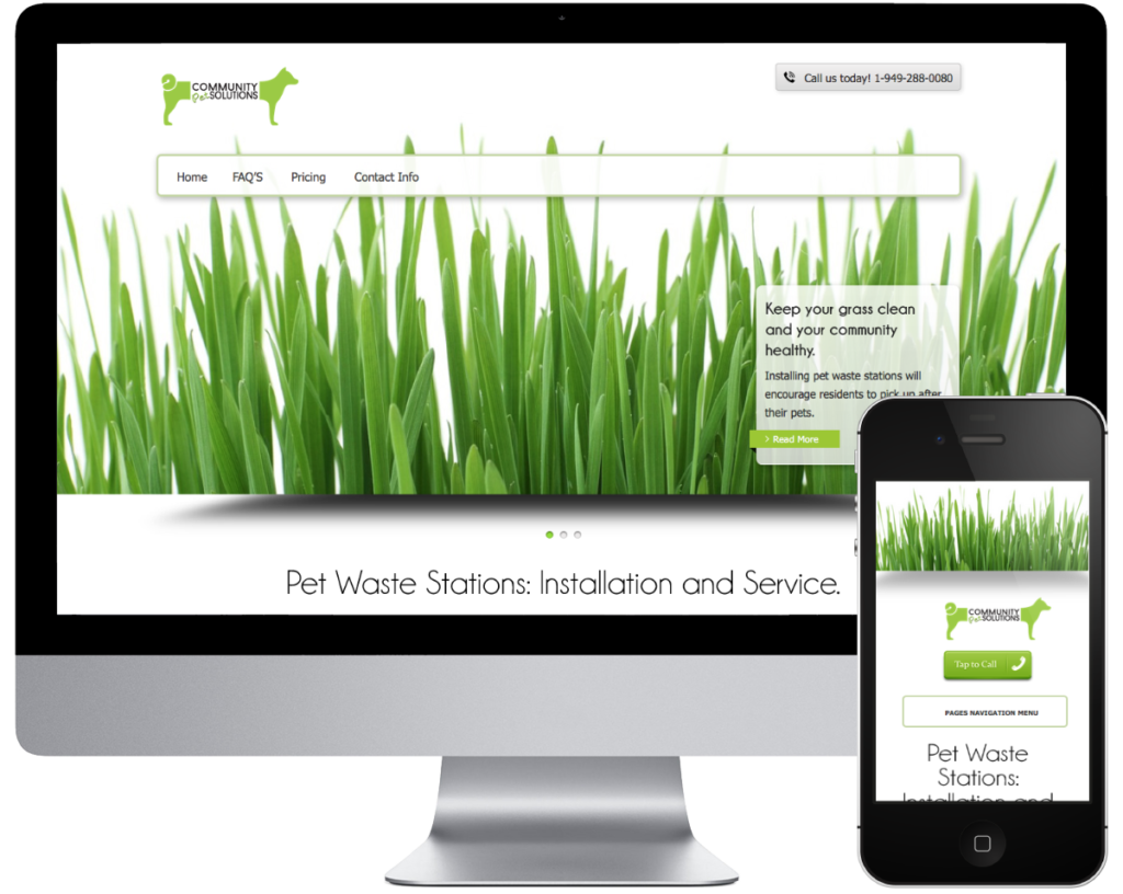 SpringSEO Client - Community Pet Solutions Website Preview
