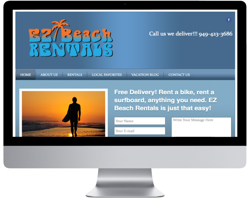 SpringSEO Client - EZ Beach Rentals Website Preview
