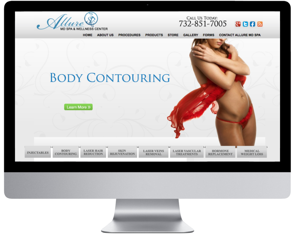 SpringSEO Client | Allure MD Spa Website Preview