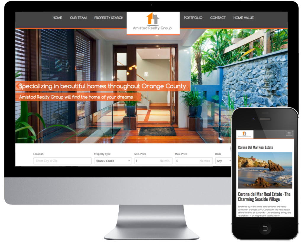 SpringSEO Client | Amistad Realty Group Website Preview
