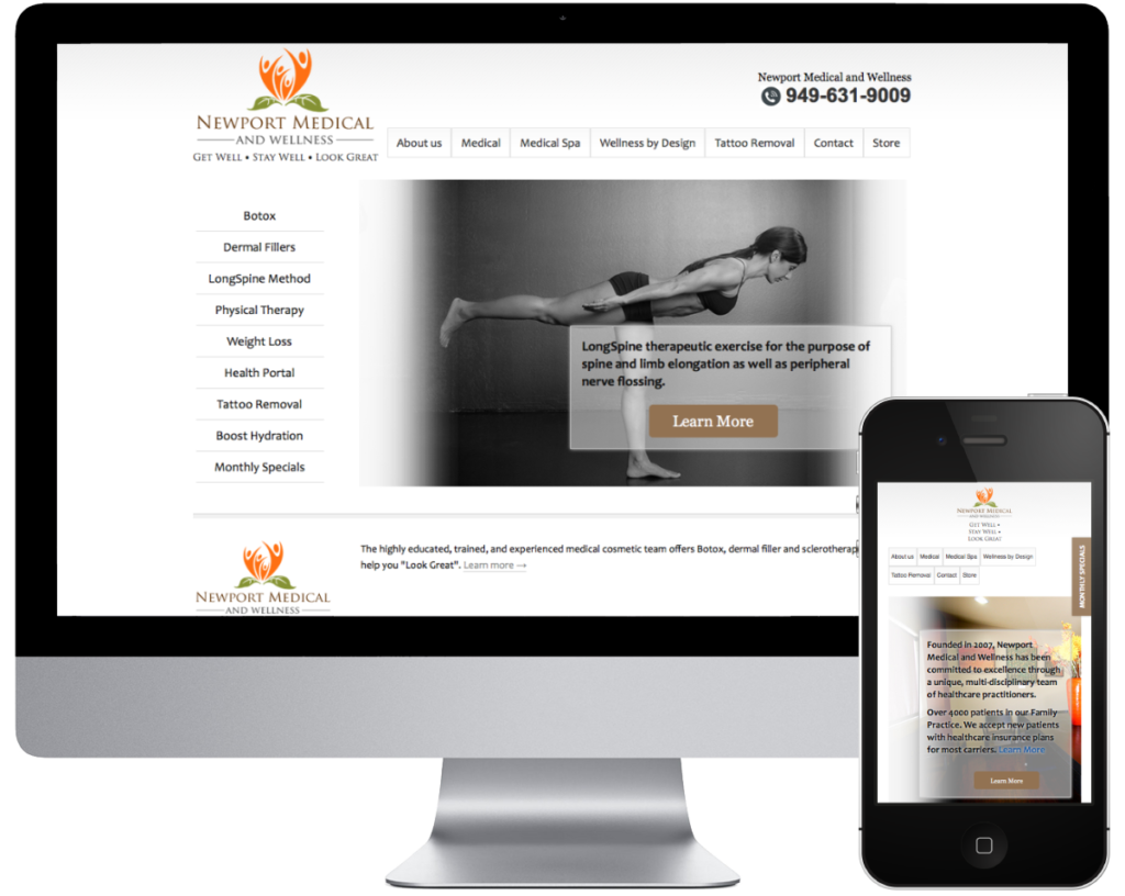 Website Preview of Newport Med Center | SpringSEO Client | SEO, Web, PPC