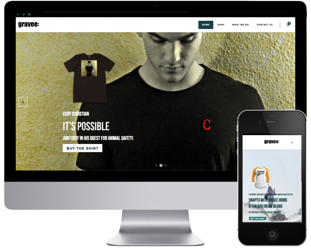 SpringSEO Client - Gravee: Cause Website Preview