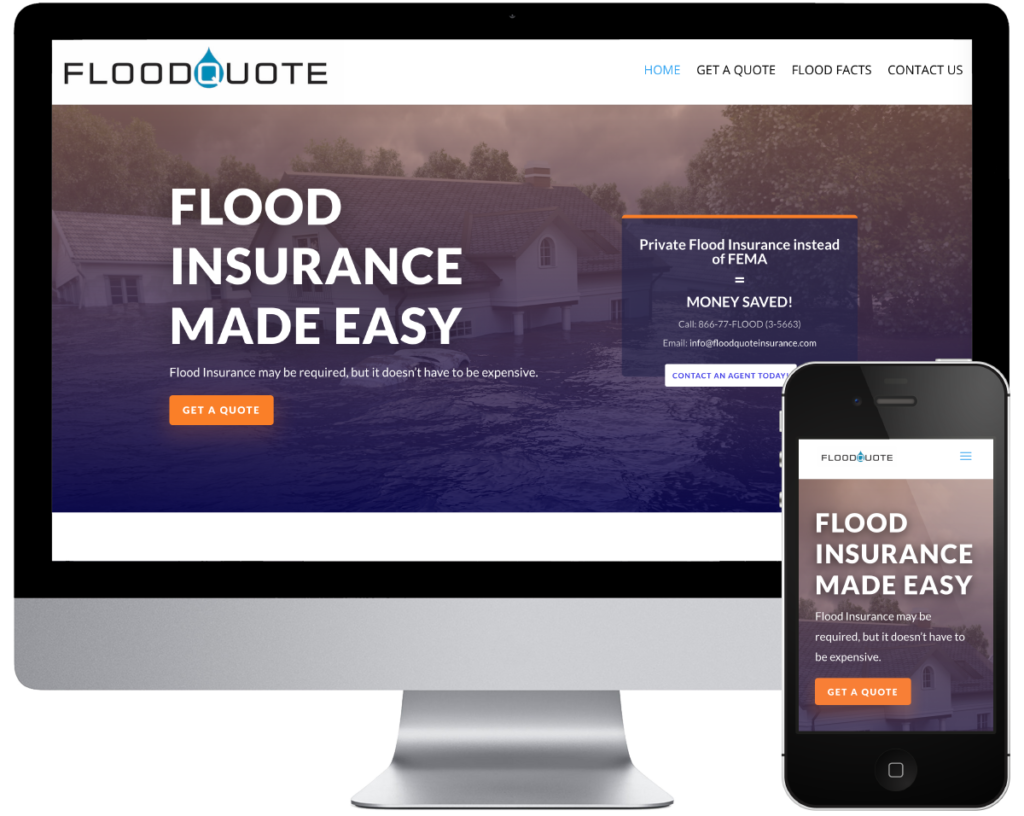 FloodQuote Insurance - Spring SEO, Inc. client