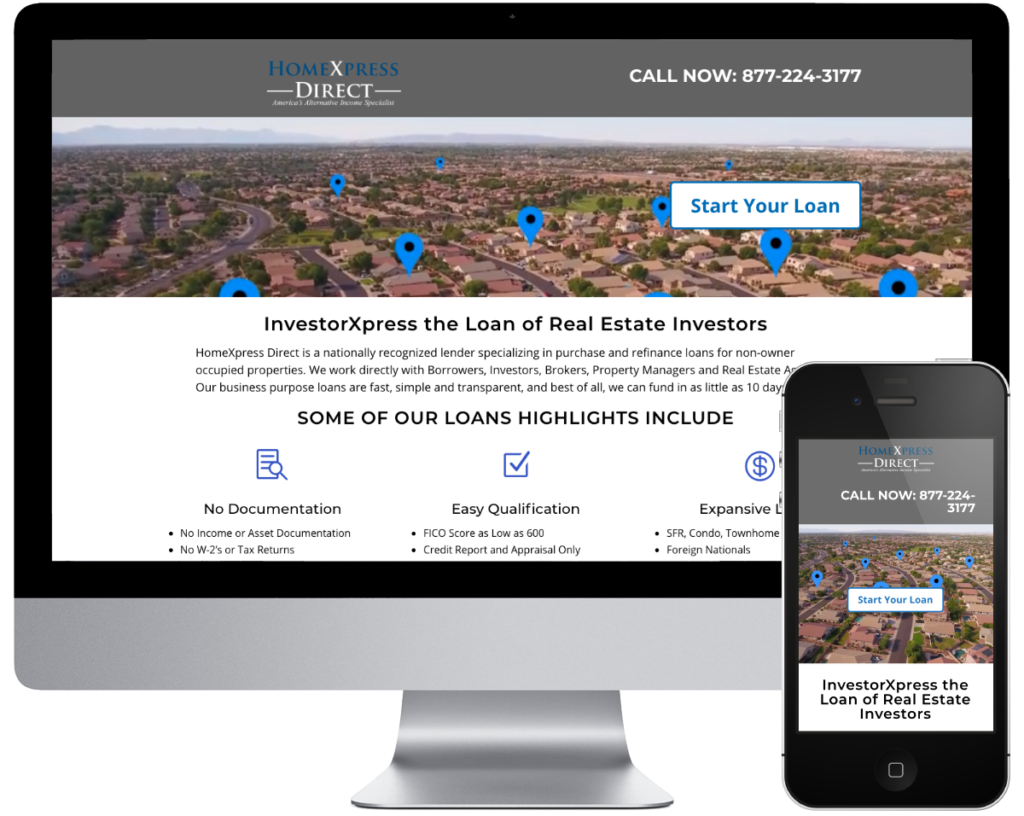 HomeXpress Direct - Spring SEO, Inc. client