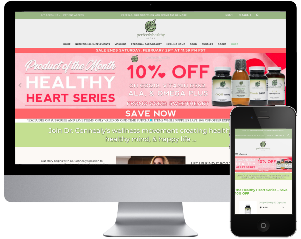 Perfectly Healthy Store - Spring SEO, Inc. client