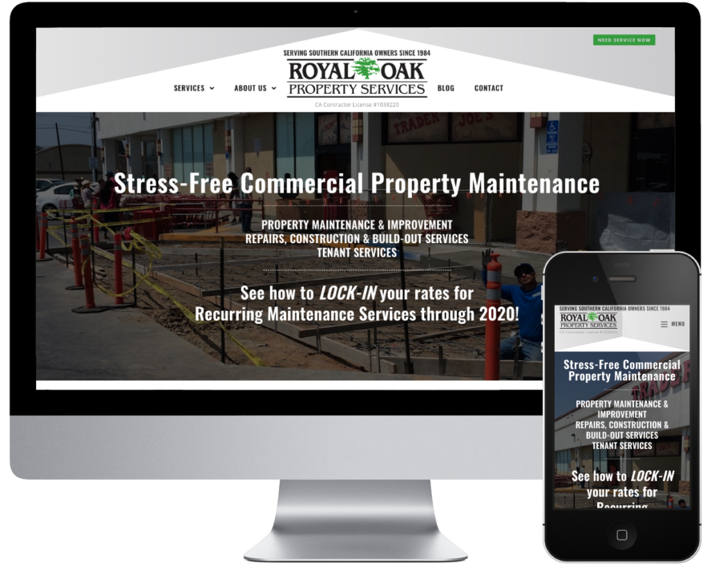 Royal Oak Property Services - Spring SEO, Inc. client